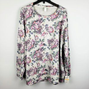 Ideology Floral Print Lace Up Top